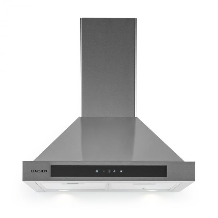 Zelda Extractor Hood Stainless Steel Ventilator 60cm Wall Mounting 620 m³/h Touch Timer
