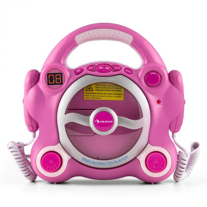 Pocket Rocker Lettore CD Karaoke Sing-A-Long 2 x Microfoni