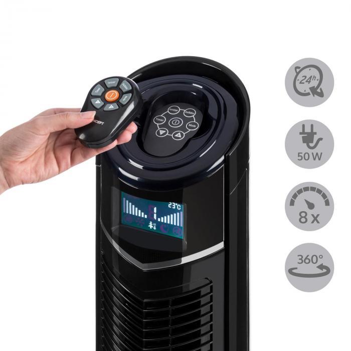 Northpeak Ventilatore a Colonna Altezza Regolabile 50 W Timer Telecomando