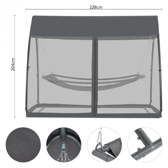 Bel Air Amaca 200x130 cm Struttura In Acciaio Zanzariera Antracite