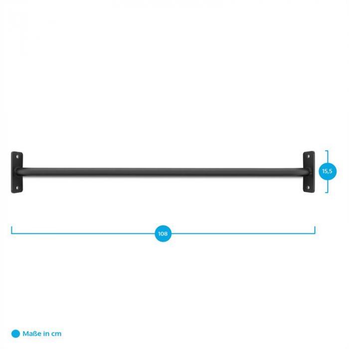 Dominate Edition Rackbar leuanvetotanko 108 cm metalli musta