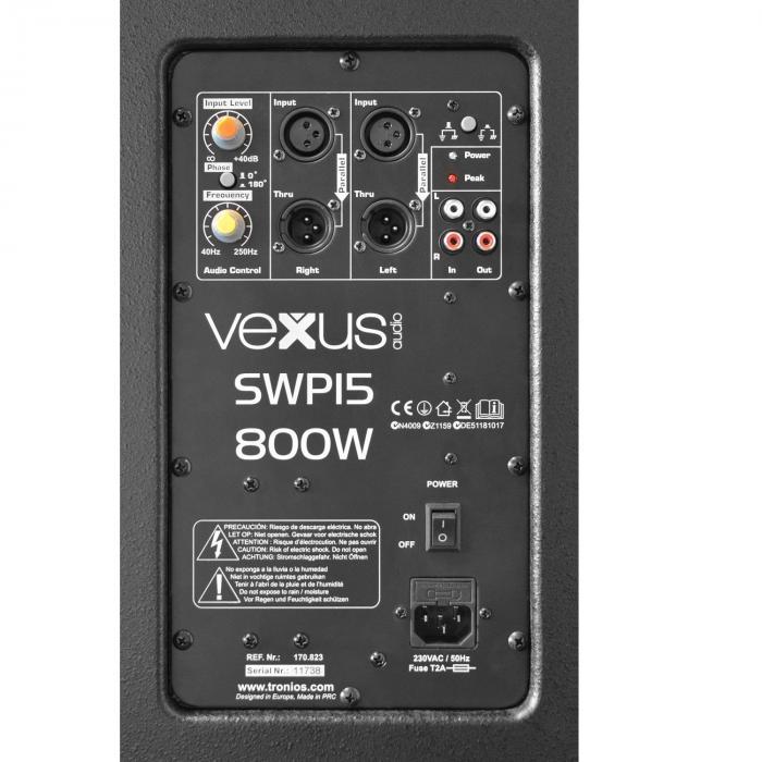 """SWP15 PRO Subwoofer Attivo PA 38 cm (15"""") 400W max."""