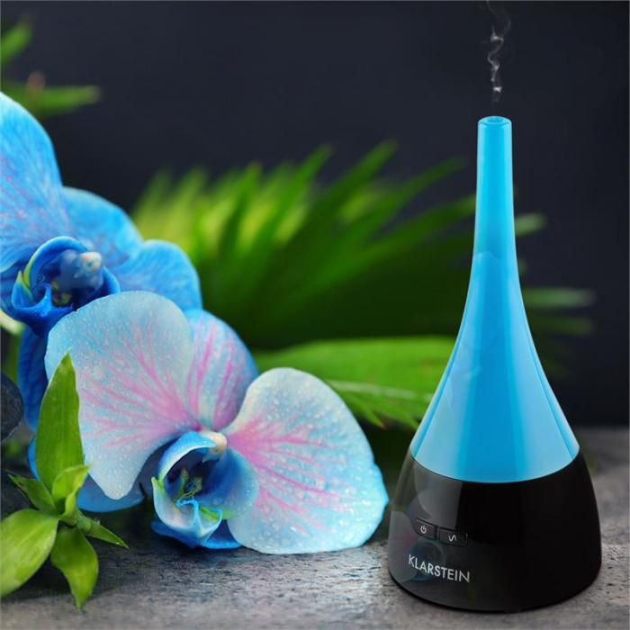 Etheria Diffusore Aromatico Umidificatore LED Ultrasuoni Turchese/Nero