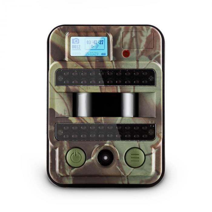GRIZZLY MAX PIR Fototrappola 40 Black LED 8 MP HD USB SD 100°