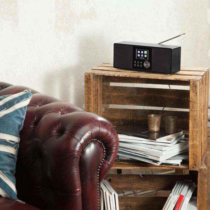 Connect 120 Radio internet Bluetooth WiFi DAB/DAB+ FM RDS USB MP3 AUX noire