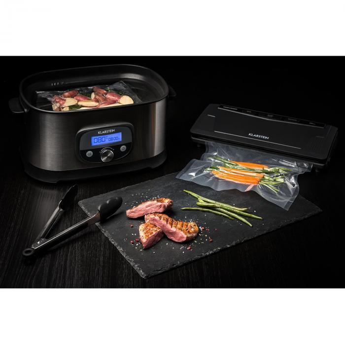 FoodLocker Slim Vacuum Sealer 130W Double-Welded Anthracite