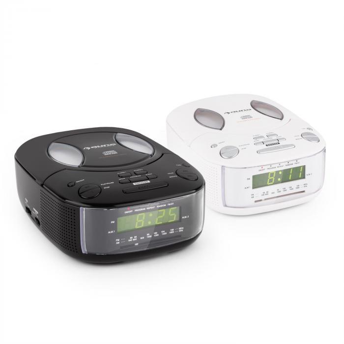 Dreamee BK Radio Alarm with CD Player FM/AM AUX Dual Alarm Black