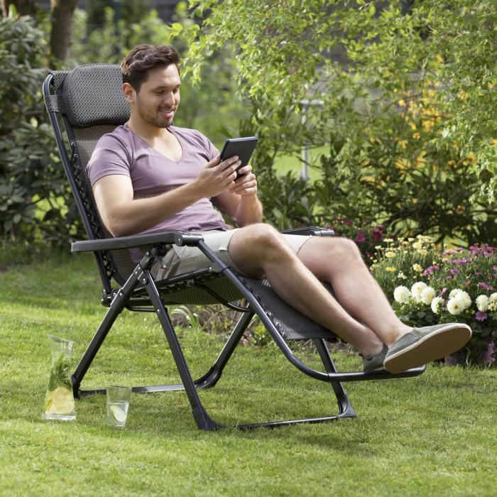 California Green aurinkotuoli puutarhatuoli taitettava pehmustettu ruutukuvio