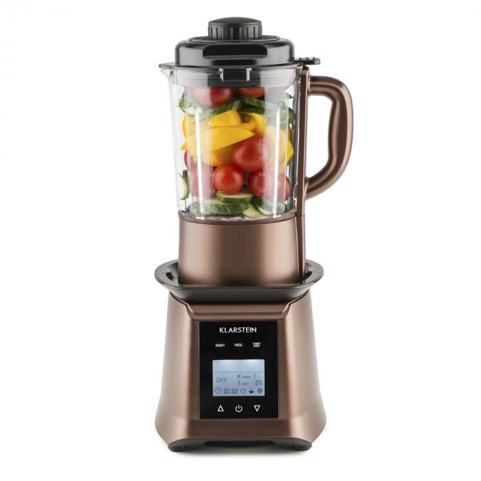 Herakles Heat keittosekoitin 1300W/1,7PS 900W 1,75l BPA-vapaa lasi kahvi