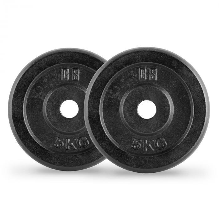 IPB 5 Dischi Per Bilanciere Coppia 30 mm 5 kg Nero