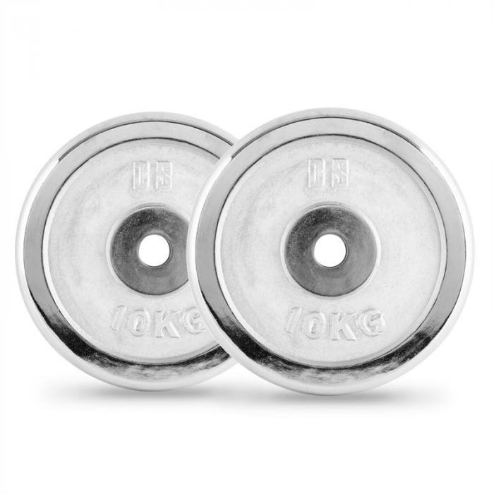 CP 10 Dischi per Bilanciere Coppia 30 mm 10 kg Cromatura Lucidi