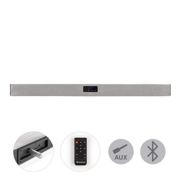 Areal Bar 150 Soundbar Bluetooth USB SD 2 x AUX inkl. Fernbedienung silber
