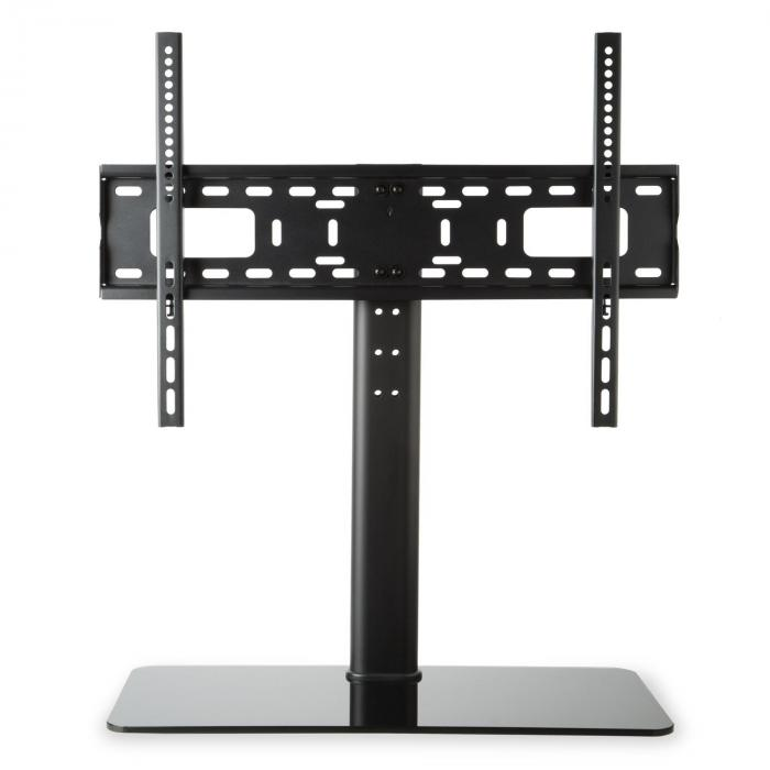 "TV Stand Size L Height 75 cm Height Adjustable 23-55"" GlassBase Black"