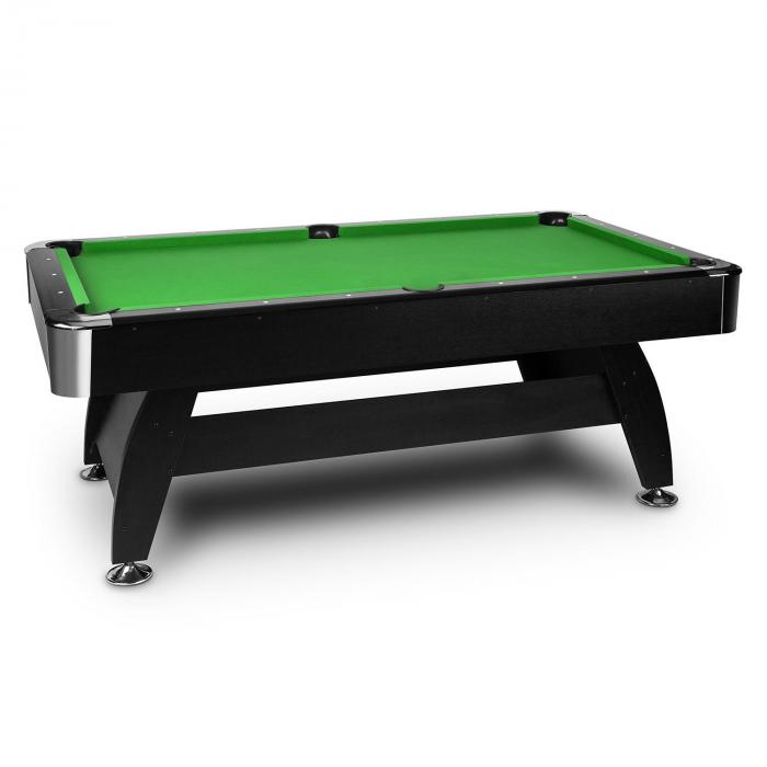 """Brighton Black Billardtisch 7"""" (122 x 82 x 214 cm) Zubehör grün"""