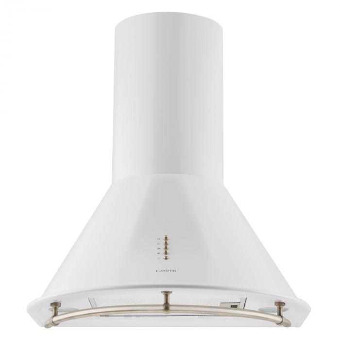 Lumio Neo Campana extractora retro, 60 cm, 610 m³/h, etiqueta energética A, en acero inoxidable y color blanco