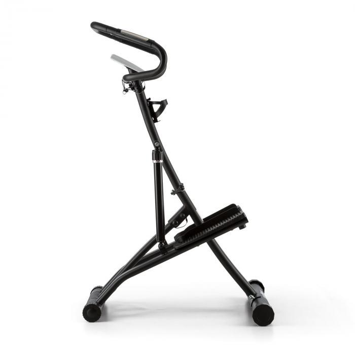 Treppo Stepper Cyclette Cardiofrequenzimetro Richiudibile Bianco