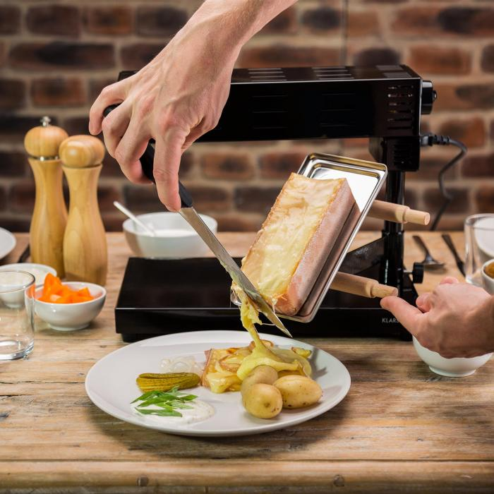 Appenzell 2G Piastra Raclette Tradizionale 600 W Nera