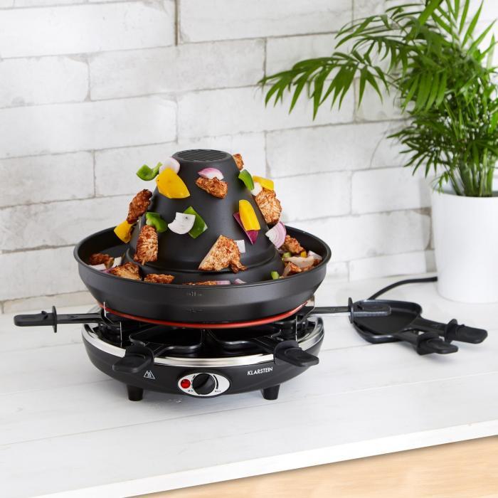 Taste Volcano Griglia per Tartare Griglia per Raclette 1500 W 6 Person