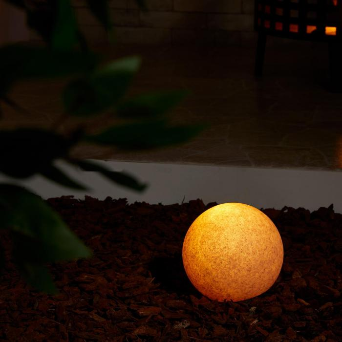 Sandshine S Globe Lamp Outdoor Lamp Garden Light Ø20cm Sandstone