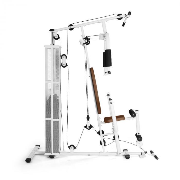Ultimate Gym 3000 monitoiminen fitness-asema valkoinen