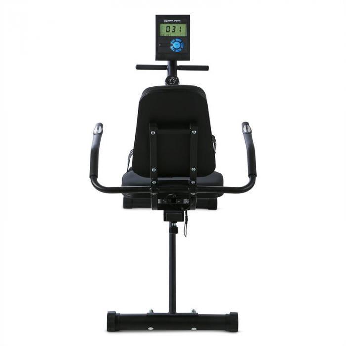 Swizor X Ergometro Orizzontale Volano 4 kg Sensore Pulsazioni Nero