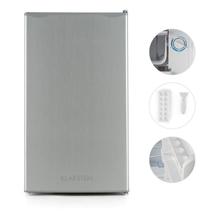 Jääkaappi 90 l luokka A+ 2 tasoa 7 l pakastinlokero ruostumaton teräs