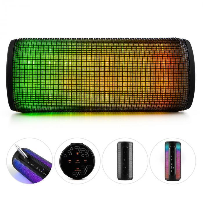 Dazzl pro kabelloser Bluetooth 4.0 Lautsprecher LED-Effekt USB Micro-SD