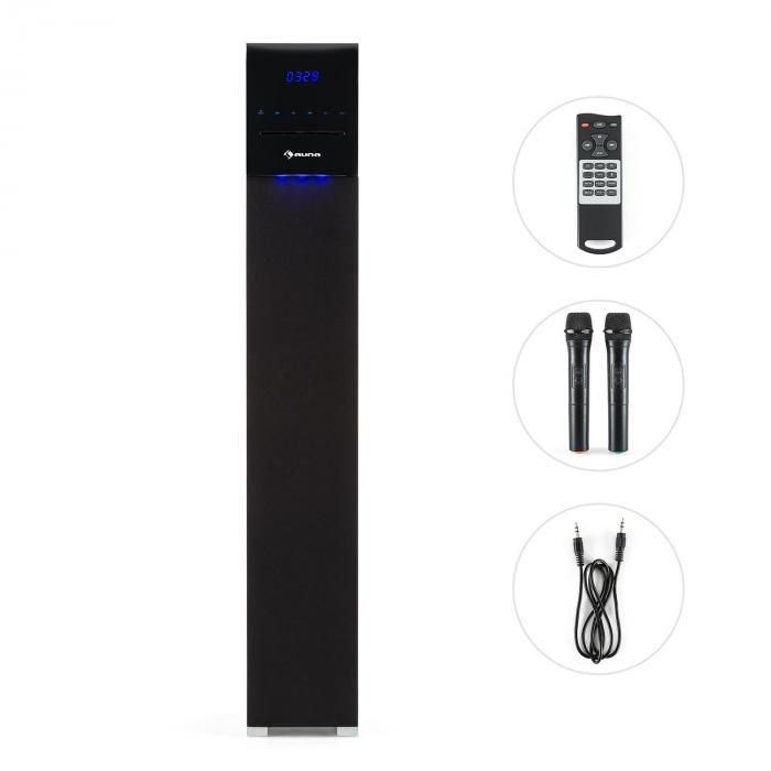Tallboy CD Bluetooth Altoparlante a Torre Impianto Karaoke CD SD USB nero