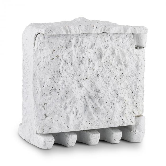 Power Rock Rocher multiprise de jardin 5m télécommande 4 ports gris clair