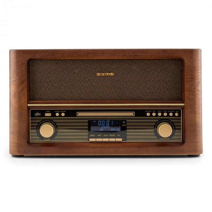 Belle Epoque 1906 Retro-stereo-installatie bluetooth CD USB MP3 UKW