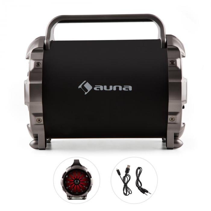 Blaster M Altavoz con bluetooth portátil Efectos de luz LED AUX SD USB FM