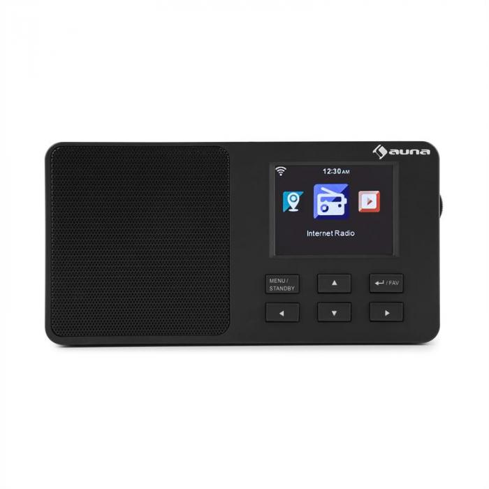 "IR-110 Internet Radio 2.4 ""TFT Colour Display Battery Wifi USB black"