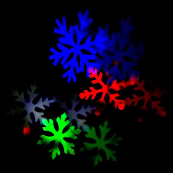 Snowdance Proiettore LED Fiocchi Di Neve 4 Colori Alluminio