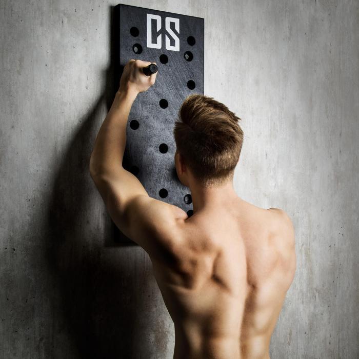 Pegstar Pegboard Klätterbräda Trainingsboard 72x30x3,8 svart
