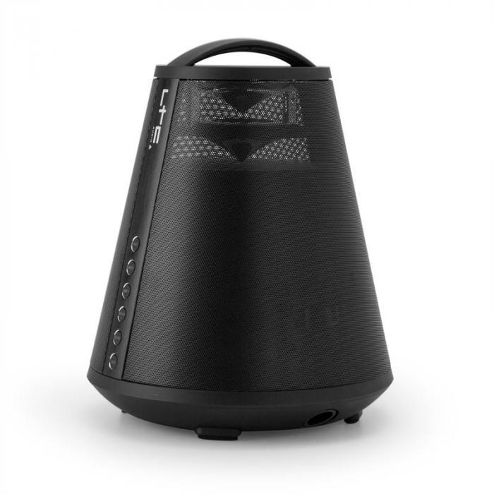 FREESOUND65 Bluetooth-kaiutin akku 360° Sound LED AUX USB SD UKW musta