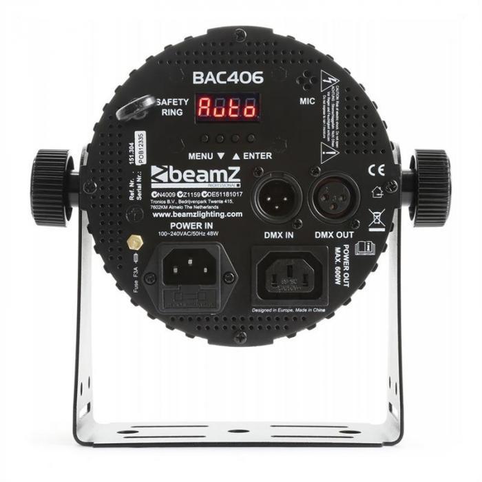 BAC406 ProPar 6 x 18 W 6-1 HEX DMX infrapuna musta