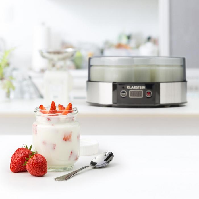 Milchstraße jogurttikone 7 x 190 ml lasia ajastin 14 h ruostumatonta terästä