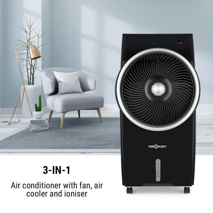 Kingcool Raffreddatore Aria Clima Ventilatore Ionizzatore nero/argento