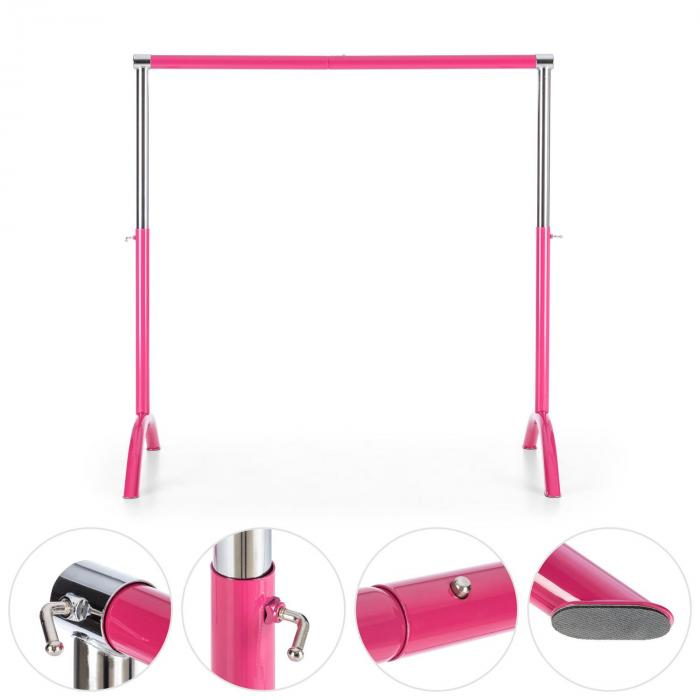 Bar Lerina Balley Bar mobile 110x113cm height adjustable steel pink