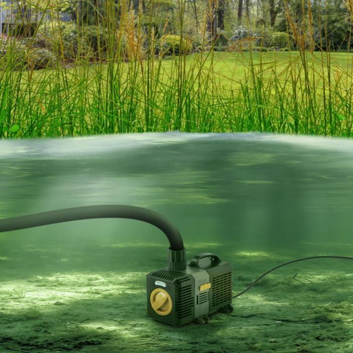Lagoon 3000 Bomba para estanques Bomba de acuario Bomba sumergible 3000 l/h 10W Juego de adaptadores