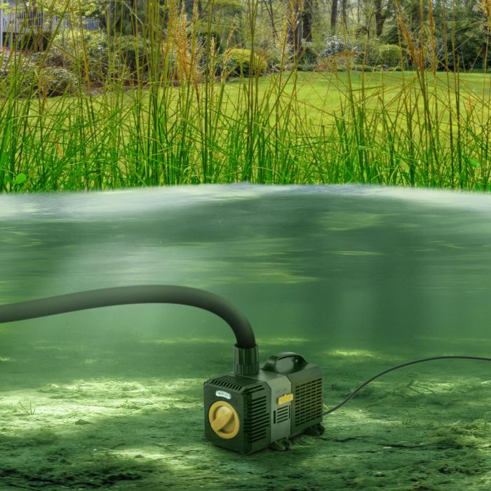 Lagoon 4500 Bomba para estanques Bomba de acuario Bomba sumergible 4500 l/h 30W Juego de adaptadores