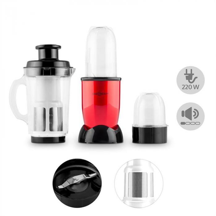 Smoothy 2G monitoimitehosekoitin 4-in-1 220W BPA-vapaa punainen