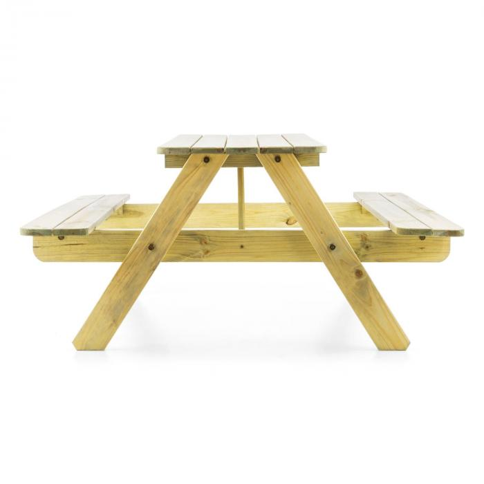 Picknickerchen Children's Picnic Table Play Table Pine Real Wood