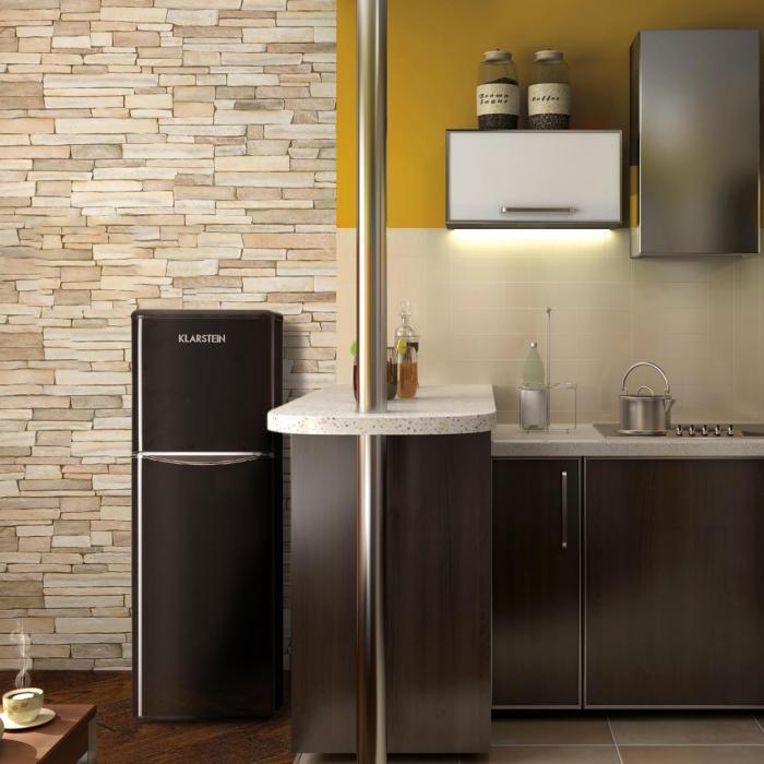 monroe xl black k hl gefrierkombination 97 39 l a retrolook schwarz schwarz online kaufen. Black Bedroom Furniture Sets. Home Design Ideas