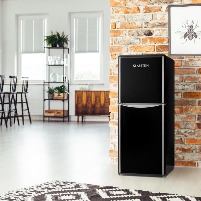 Monroe L jääkaappi 70l pakaselokero 38 l retro musta