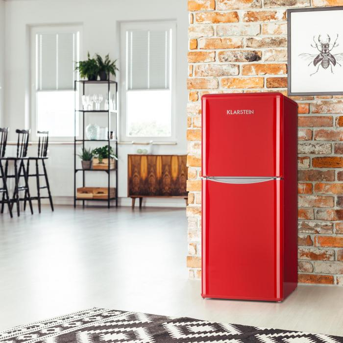 Monroe L Frigorífico 70l de Refrigeração 38l de Congelação Look Retro Vermelho