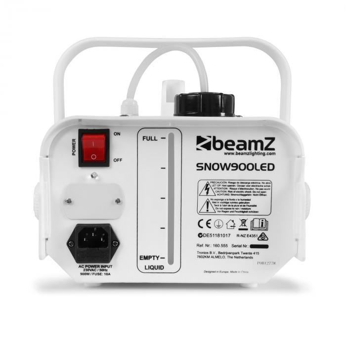 Snow 900 LED-lumikone 900W 3-in-1-LED:it 1L tankki kauko-ohjattava valkoinen