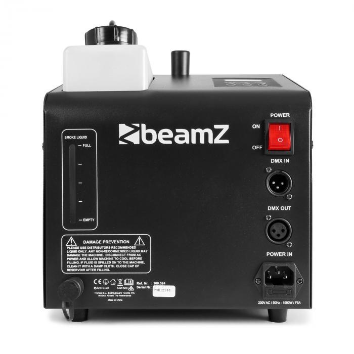 SB1500LED Nebel- & Seifenblasen-Maschine 1500W 1,35L Tank RGB-LEDs DMX