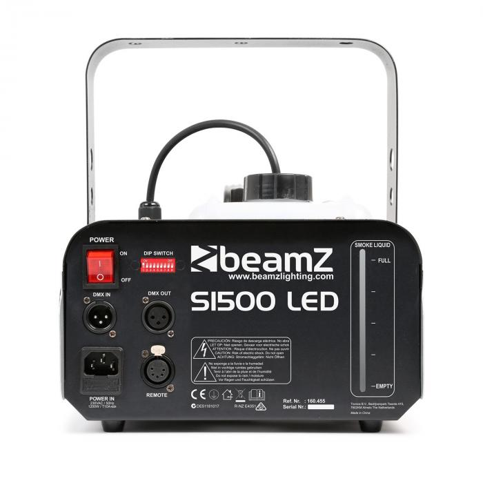 S1500LED Macchina per Nebbia 1500W 9x3W LED-RGB DMX Serbatoio 2,5L