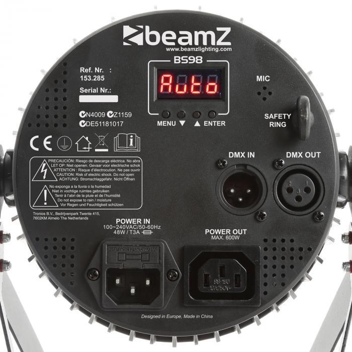BS98 Strobo LED 98x LED SMD DMX bianco Telecomando IR